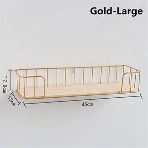 L Golden Hängekorb Holz Aufbewahrungs-Korb Unterbau Schrank Regal Ablage Wandhalterung