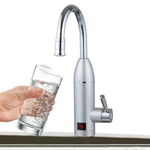 3KW Elektrischer Wasserhahn Durchlauferhitzer Armatur Digitalanzeige Warmwasserbereiter LED Display Küche Bad Armatur IPX4 360°