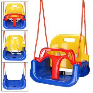 EINFEBEN Babyschaukel 3 in 1 Babysitz Kinderschaukel Spielaeug Stabil Baby Swing Sitz