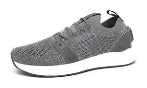 PUMA NRGY Neko Engineer Knit Herren Low Boot Sneaker Sportschuhe Grau-Galaxyblau Schuhe, Größe:44