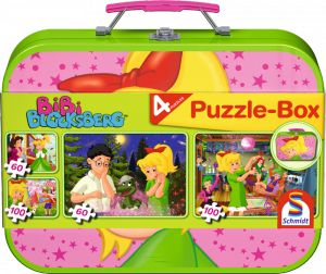 2 x 60 + 2 x 100 Teile Schmidt Spiele Kinder Puzzle Bibi Blocksberg Koffer 55595