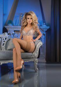 halterlose struempfe Ballerina 470 skin  Stockings Damenstruempfe , Größe:L/XL - (40/42)