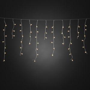 Konstsmide - LED Eisregen Lichtervorhang, mit weißen Globes, 200 warm weiße Dioden, 24V Außentrafo, transparentes Kabel ; 3672-103