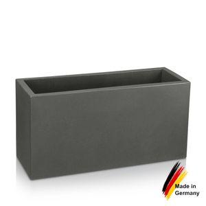 Pflanztrog VISIO 40 Kunststoff Blumenkübel, 80x30x40 cm (L/B/H), Farbe: basaltgrau matt