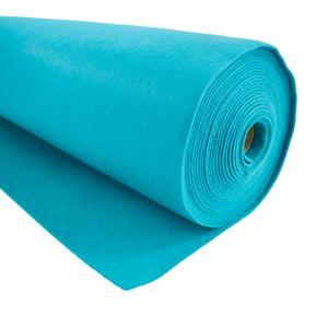 Bastelfilz 1m Meterware Filz 90cm x 1,5mm Dekofilz Taschenfilz Filzstoff 39 Farben, Farbe:türkis