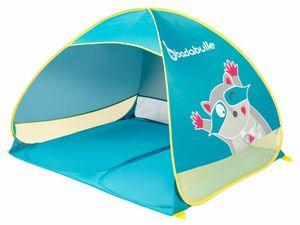 Badabulle Strandmuschel Waschbär - für Kinder & die ganze Familie, UV-Schutz 50+, Maxi-Format, Pop-Up-System - B038203
