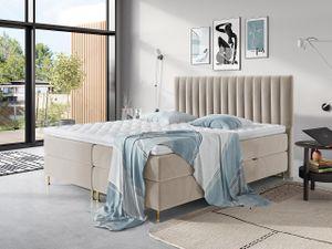 Mirjan24 Boxspringbett Elegance, Stilvoll Doppelbett mit zwei Bettkästen und Topper (Farbe: Fresh 01, Größe: 180x200 cm)