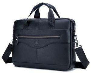 Herren Tasche Echt Leder Aktentasche Schultertasche Umhängetasche Messenger Bag Schwarz