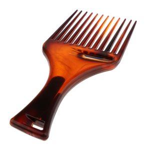 Afro Kamm mit Griff, Afrokamm Strähnenkamm Afro-Hair-Styler für dichtes, lockiges und langes Haar