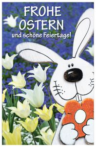 """SUSY CARD Oster-Grußkarte """"Hase Tulpen"""""""