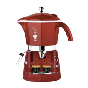 Bialetti Mokona CF40, Espressomaschine, Kaffeekapsel, Kaffeepad, Gemahlener Kaffee, 900 W, Rot
