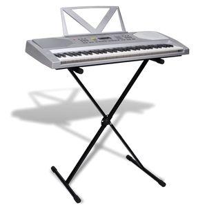 vidaXL Elektronisches Keyboard 61-Tasten mit Keyboard- und Notenständer