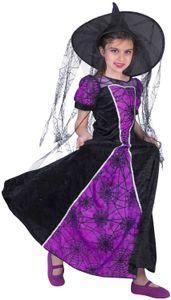 Spinnenhexe Spinnenmädchen Hexe Kinder Karneval Halloween Kostüm 140