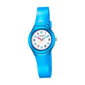 Calypso Kunststoff PolyurethanKinder Uhr K5749/2 Armbanduhr hellblau Junior D2UK5749/2