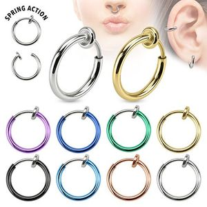 Fake Piercing Helix / Septum für Nase & Ohr, Farbe:Hellblau
