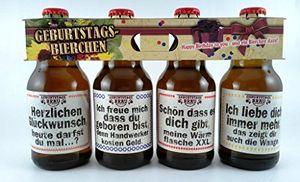 Geburtstags Bier im Happy Birthday 4er Träger als Geschenk (8,33 EUR / l)