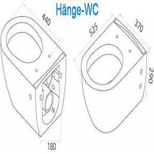 Spülrandloses Hänge-WC & Bidet mit Überlauf & Quick-Release D-Form WC-Sitz mit Absenkautomatik & inkl. Befestigungsmaterial   Komplett-Set  