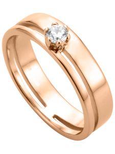Esprit Damen Ring Lure 925 Sterling Silber Roségold Zirkonia - ESSE003512, Ringgröße (Durchmesser):51 (16.2 mm Ø)