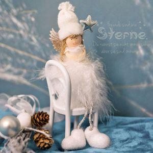 Engel Metall Metallengel florale Prägung 71cm Dekoration Weihnachten Winter