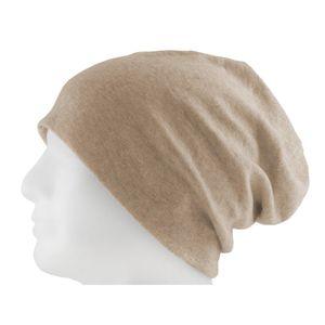 Oblique Unique Long Beanie XXL Mütze Slouch Damen Herren Kinder Mütze - beige sand