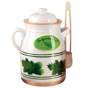 ORION Gurkentopf / Behälter zum Einlegen von Gurken / Einlegetopf mit Wasserrinne 6l
