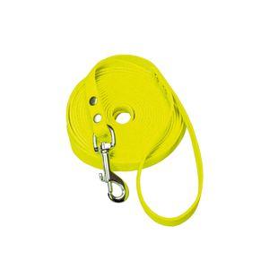 Schecker gelbe Biothane® Schleppleine mit Handschlaufe 10m / 13 mm