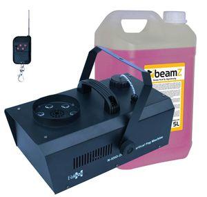 E-Lektron N-1010-DMX Nebelmaschine Vertikal mit RGB  LEDs, inkl. 5L Beamz Nebelfluid - EL189048