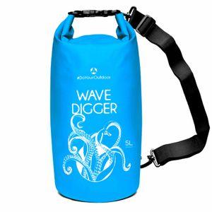 DryBag (wasserdichter Seesack / Tasche) Krake 5L blau