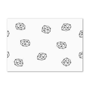 Tulup® Leinwandbild - 100x70 cm - Wandkunst - Drucke auf Leinwand - Leinwanddruck  - Sonstige - Schwarzweiß - Abstraktes Muster
