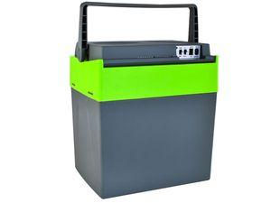 Kühlbox Grau 12V/220V Kühlen + Heizen Bequemer Griff Gewicht 4kg 28L/30L Lange Kabel 7845, Größe:33 L