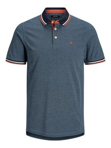 Jack & Jones denim blau Polo, Gr. XXL