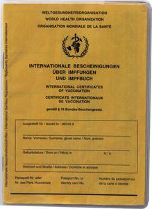 Impfpasshülle Hefthülle für den Internationalen Impfausweis im Format: 13 cm hoch x 9,5 cm breit - 2er Pack