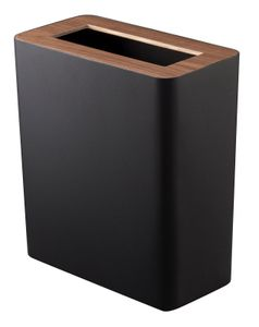 YAMAZAKI Papierkorb Mülleimer Abfalleimer schwarz 3195