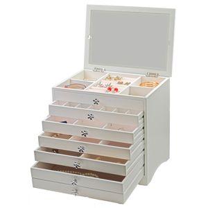 Schmuckkästchen Schmuckkasten Schmuckschatulle mit 5 Schubladen aus Holz
