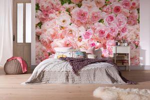 "Komar Fototapete ""Rosa"", rosa/grün, 368 x 254 cm"