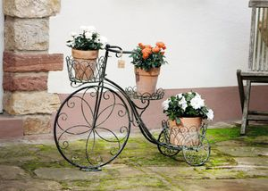 Pflanz-Rad,Metalldeko,Pflanzkörbe,nostalgisch,aufwändig gearbeitet,sehr schöner Landhausstil