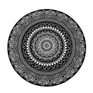 Mandala Flower Round Carpet Zimmer Teppiche Rutschfeste Bodenmatte für Wohnzimmer Schlafzimmer Kinderzimmer Yoga Mat
