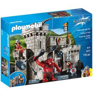 Playmobil 5670 Knights, Burgtor mit Riesentroll