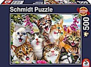 Schmidt Spiele 58391 Katzen-Selfie, 500 Teile