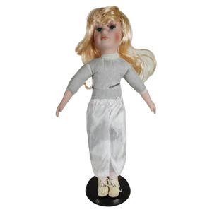 Vintage Style Porzellanpuppen Sammlerpuppen 40cm Porzellan Puppe Mädchenpuppe Stehpuppe Stil EIN