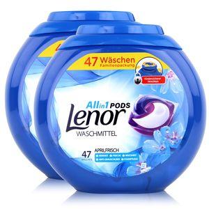 Lenor Allin1 Pods Waschmittel Aprilfrisch 47 WL (2er Pack) Gesamt 94 WL