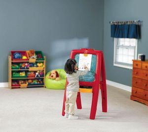 Step2 Easel For Two Schreibtafel für Kinder | Kindertafel magnetisch & klappbar mit 77 teiligem Zubehör Set | Magnetische Kreidetafel