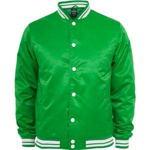 Urban Classics Mens Shiny College Jacket, Farbe:cgr/wht, Größe:S