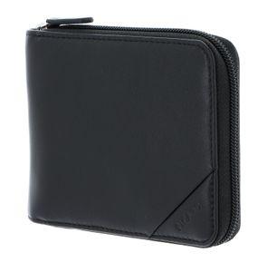Picard Leder Reißverschluss Geldbörse Soft Safe mit RFID Schutz Schwarz 9123