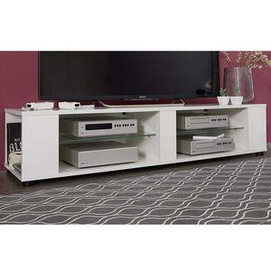 Trendteam TV-Lowboard Hennes in weiß Glanz Board wahlweise hängend oder stehend Hängeboard 140 x 30 cm