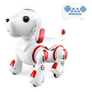 Roboterhund Fernbedienung 2,4 GHz Roboter Hund Welpe Intelligent Smart Interactive Singen Tanzen Programmierbares Spielzeug Kinder Geburtstagsgeschenk (rot)