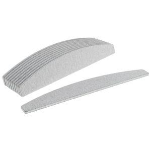 10 Stück Nagelfeile Nageldesign 100/180 Trapez Maniküre Nagelpflege Nagelfeilen Halbmond Doppelseitig Nail Art Set