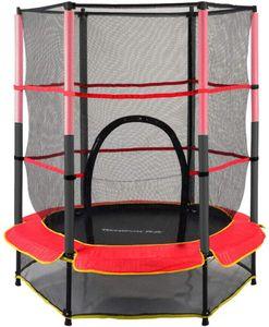 140cm Kinder Trampolin Mini-Trampolin für Kinder, mit Schutznetz Lastaufnahme  springend, Bungee, Jump, Fitnessstudio, für Kinder im Freien, Garten