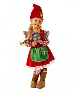 Kleines Gartenzwerg Mächen Kinderkostüm für Karneval und Halloween Größe: XS