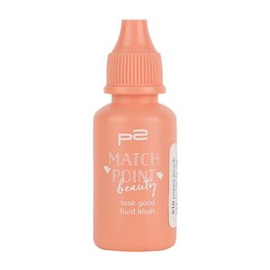 P2 Make-up Teint Rouge Match Point Beauty - blush fluid 833366, Farbe: 010 poppy peach, 17 ml